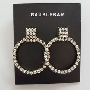 BaubleBar Gemma Crystal Embellished Hoop Earrings.